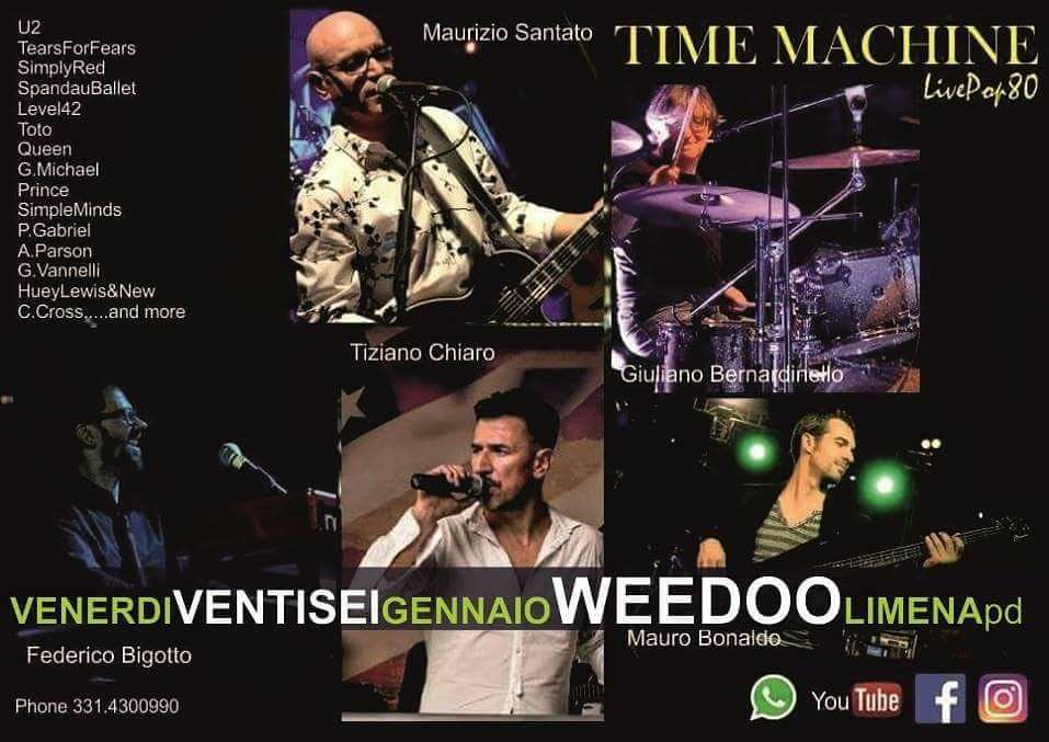 26 Gen. ore 22 – TIME MACHINE LivePop '80 tribute